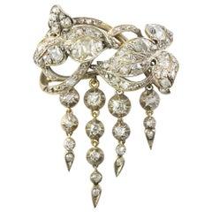 Mid-19th Century Diamond Brooch