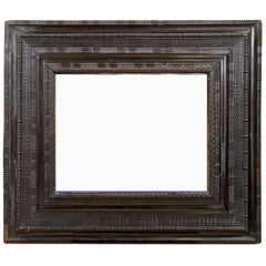 Mid 19th century Dutch ebonised ripple frame of large proportions
