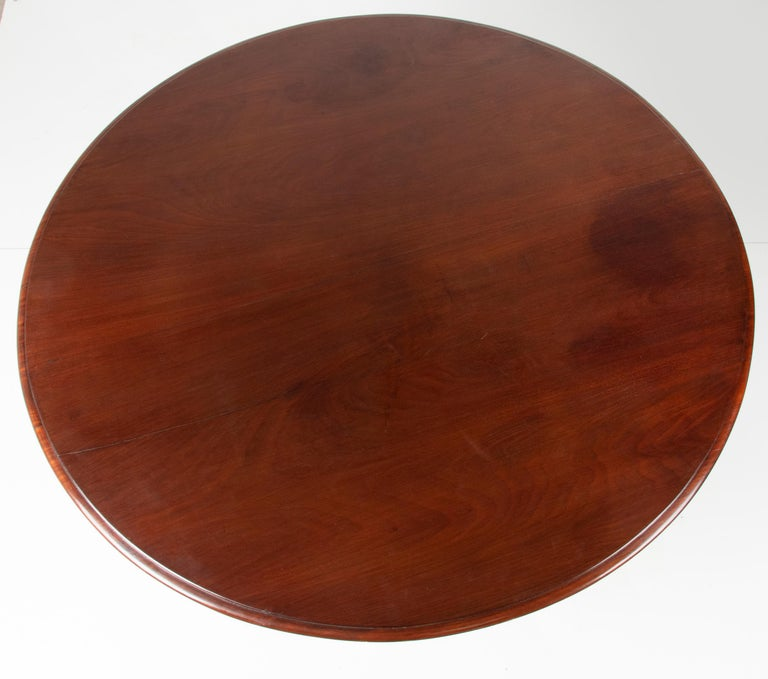 Mid- 19th Century Dutch Empire Style Mahogany Dining Table For Sale 6