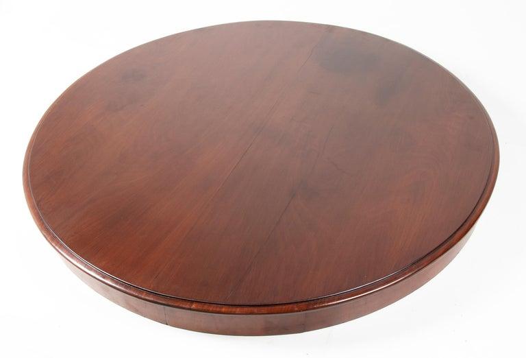 Mid- 19th Century Dutch Empire Style Mahogany Dining Table For Sale 7