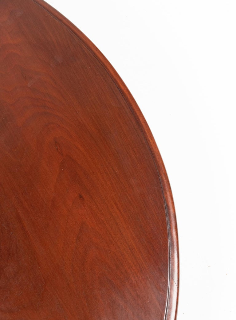 Mid- 19th Century Dutch Empire Style Mahogany Dining Table For Sale 10