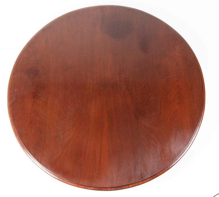 Mid- 19th Century Dutch Empire Style Mahogany Dining Table For Sale 13