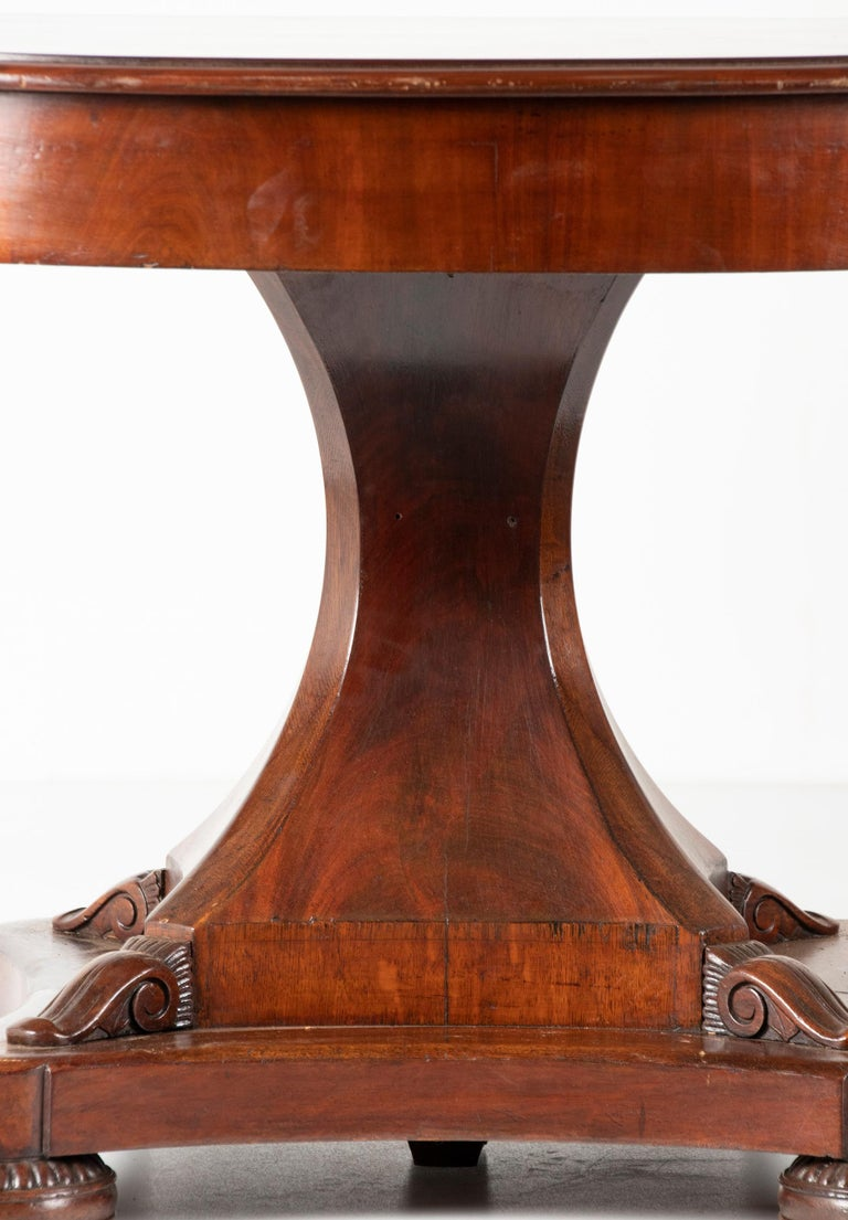 Mid- 19th Century Dutch Empire Style Mahogany Dining Table For Sale 2