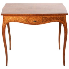 Mid-19th Century Dutch Marquetry Center Table