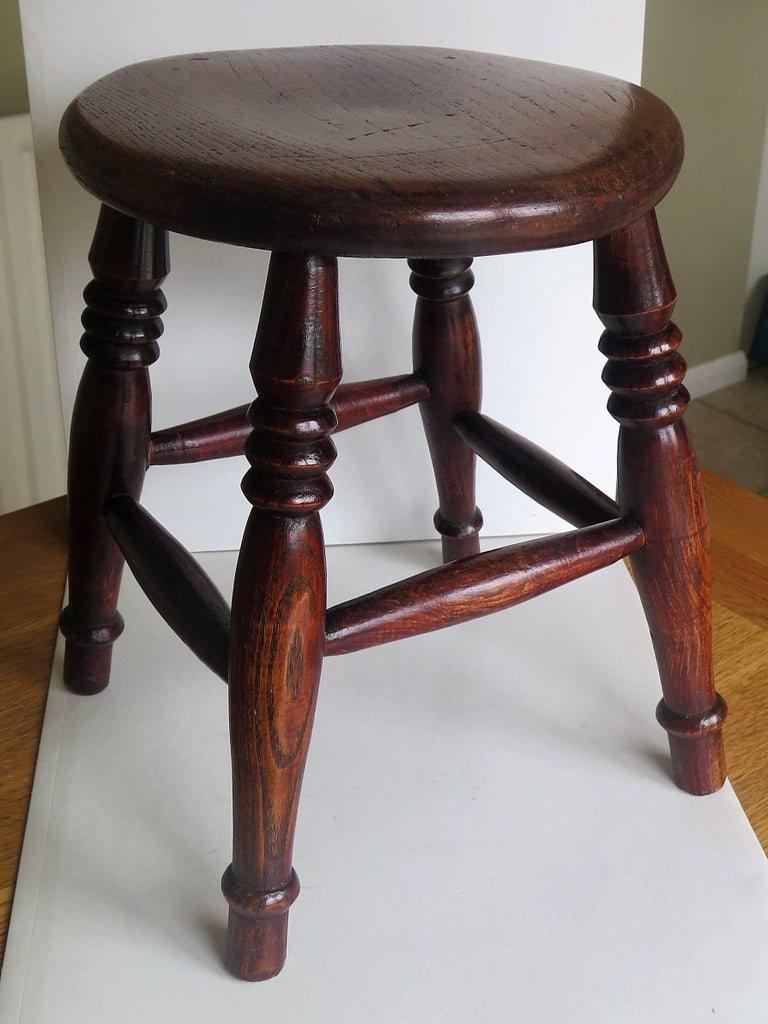 Mid-19th Century Elm Stool or Stand North East Yorkshire English Maker For Sale 1