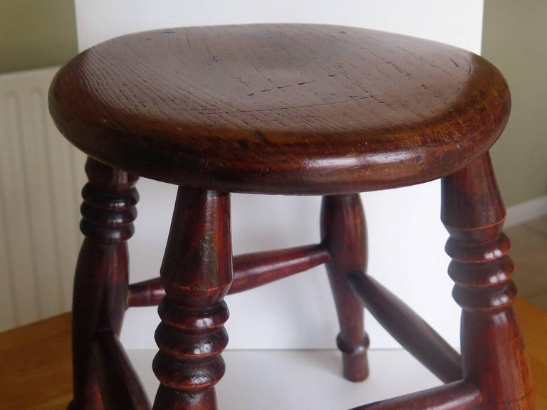 Mid-19th Century Elm Stool or Stand North East Yorkshire English Maker For Sale 4