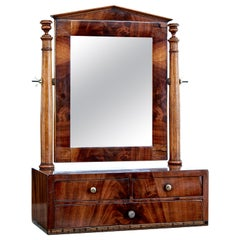 Mid-19th Century Empire Inlaid Mahogany Vanity Mirror