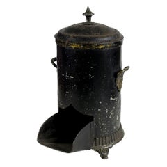 Mid-19th Century English Black Coal Scuttle
