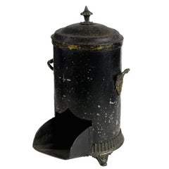 Mid-19th Century English Black Coal Scuttle