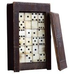 Mid-19th Century English Folk art Dominos Game