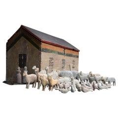 Mid-19th Century English Folk Art Noah Noah's Ark