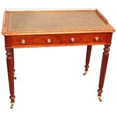 Mid-19th Century English Mahogany Victorian Writing Table