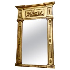 Mid-19th Century English Water Giltwood Regency Mantel Mirror