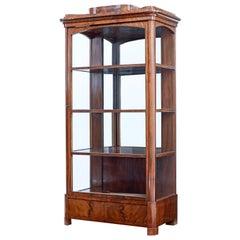 Mid-19th Century Flame Mahogany Glazed Display Cabinet