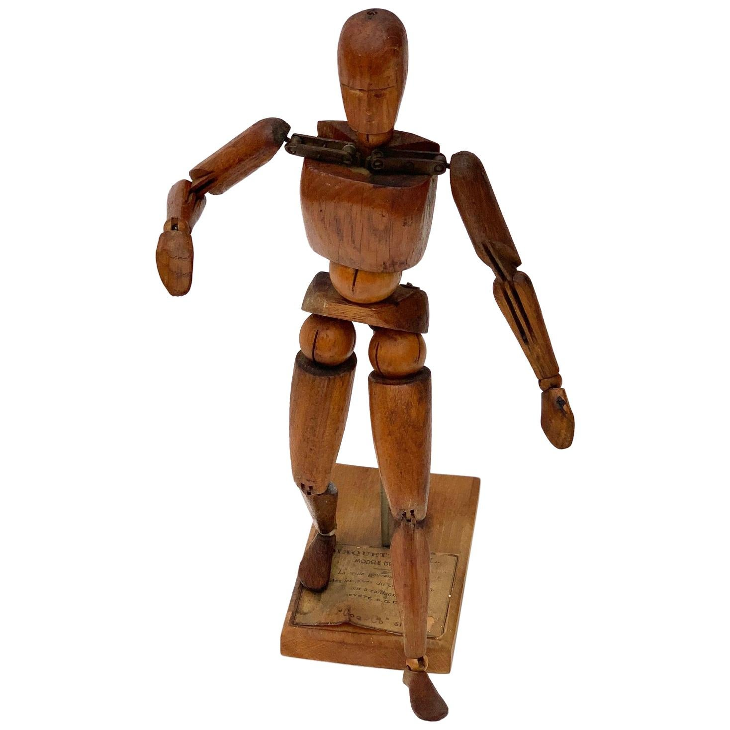 Mid-19th Century French Articulated Artist Model