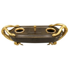 Mid-19th Century French Bronze and Ormolu Boat-Shaped Pentray