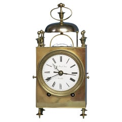 Mid 19th Century French Capucine Clock with a Glazed Balance Platform