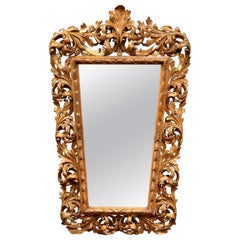 Mid-19th Century French Carved Giltwood Mirror from Provence