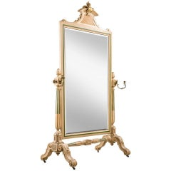 Mid-19th Century French Cheval Mirror