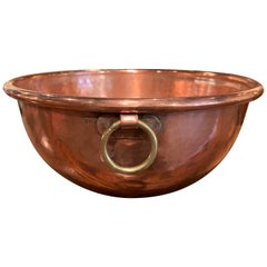 Mid-19th Century French Copper Jelly Bowl from Normandy