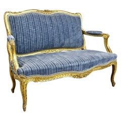 Mid-19th Century French Giltwood Settee