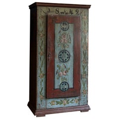 Mid-19th Century French Hand Painted Cupboard, 1849