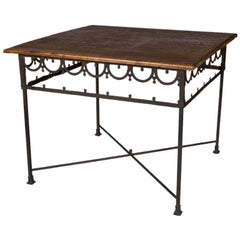 Mid 19th Century French Iron and Wood Table