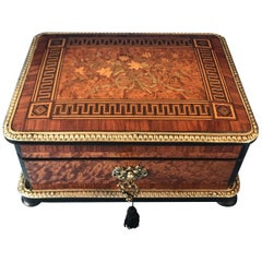 Mid-19th Century French Kingwood Cross Banded Box