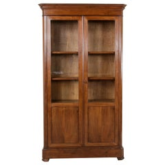 Mid-19th Century French Louis Philippe Period Mahogany Bookcase or Vitrine