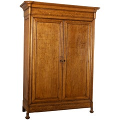 Mid-19th Century French Louis Philippe Period Oak Armoire, Cabinet