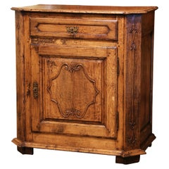 Mid-19th Century French Louis XIV Carved Oak and Chestnut Confiturier Cabinet