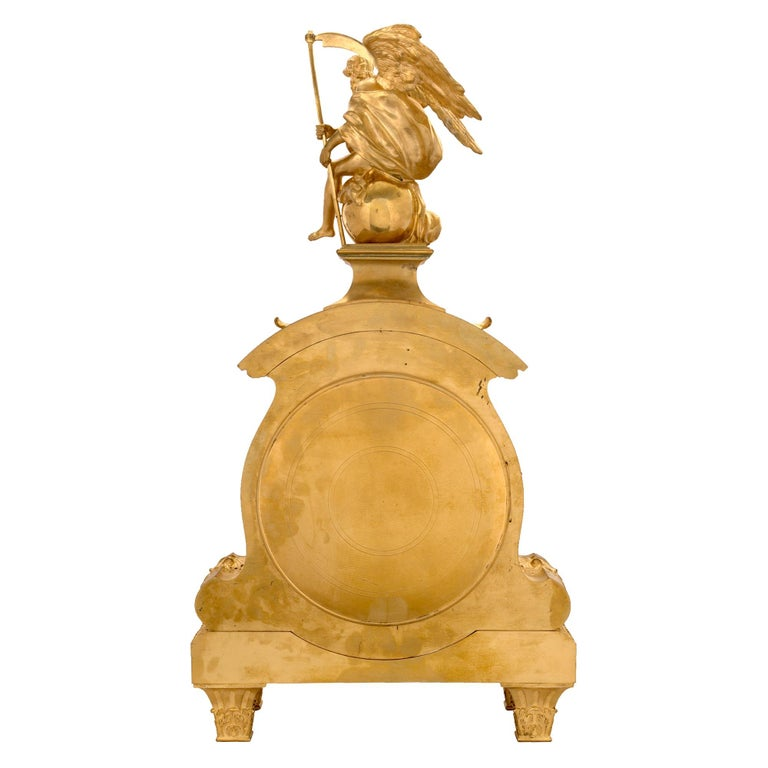 Mid-19th Century French Louis XIV Style Ormolu Clock For Sale 7