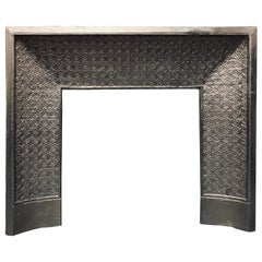 Mid-19th Century French Louis XV Cast Iron Fireplace Insert