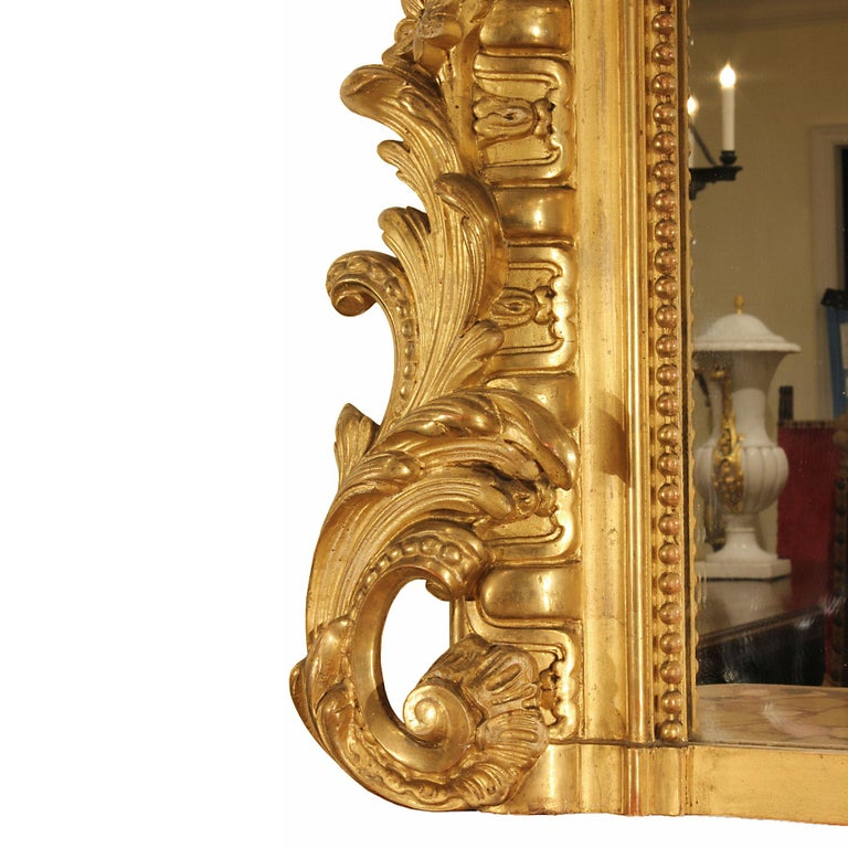 Mid-19th Century French Louis XVI Style Giltwood Mirror For Sale 2