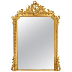Mid-19th Century French Louis XVI Style Giltwood Mirror