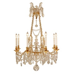 Mid-19th Century French Louis XVI Style Eight-Light Chandelier