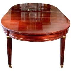 Mid-19th Century French Mahogany Louis XVI Style Dining Table