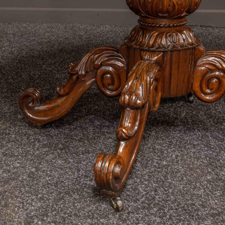 Mid-19th Century French Mahogany Table For Sale 7