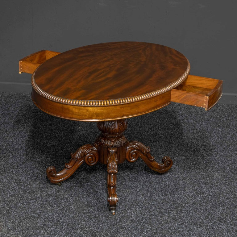 Mid-19th Century French Mahogany Table For Sale 1