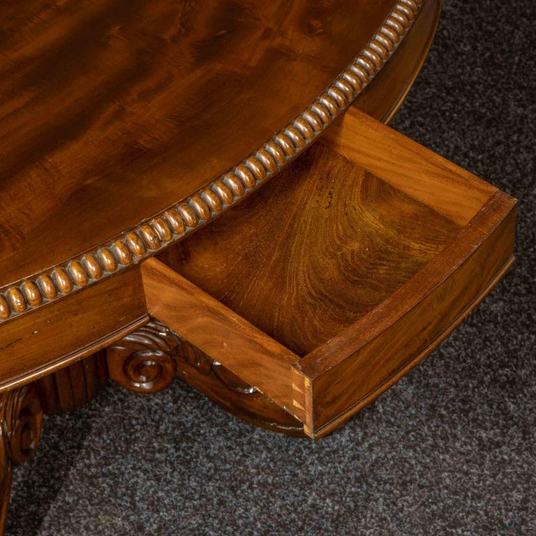 Mid-19th Century French Mahogany Table For Sale 2