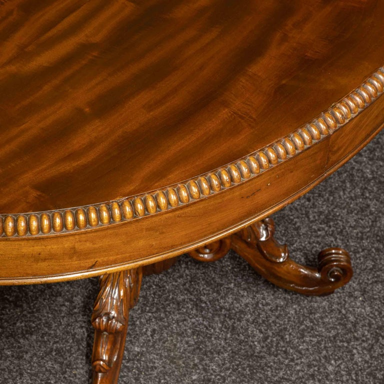 Mid-19th Century French Mahogany Table For Sale 5