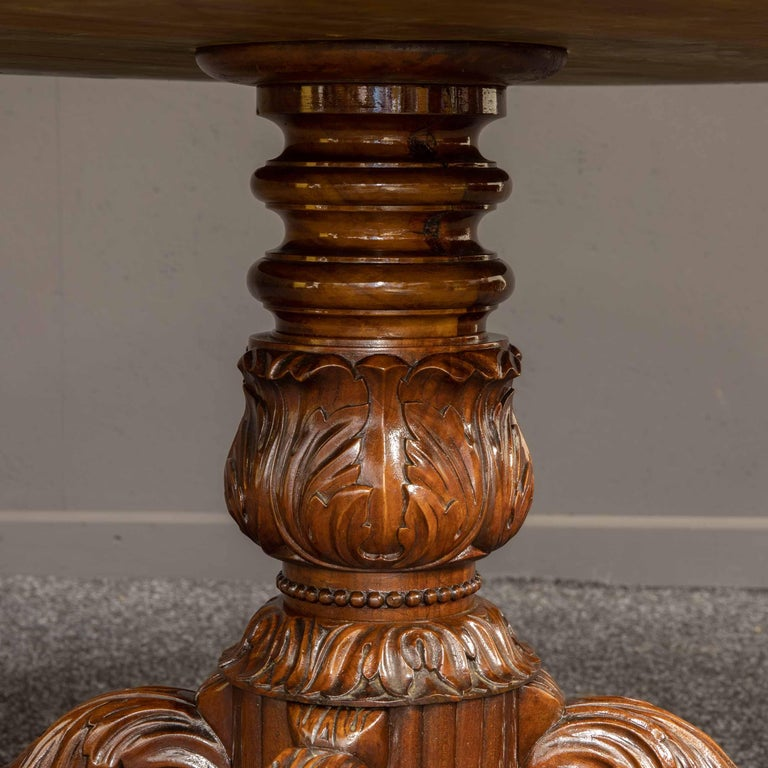 Mid-19th Century French Mahogany Table For Sale 6