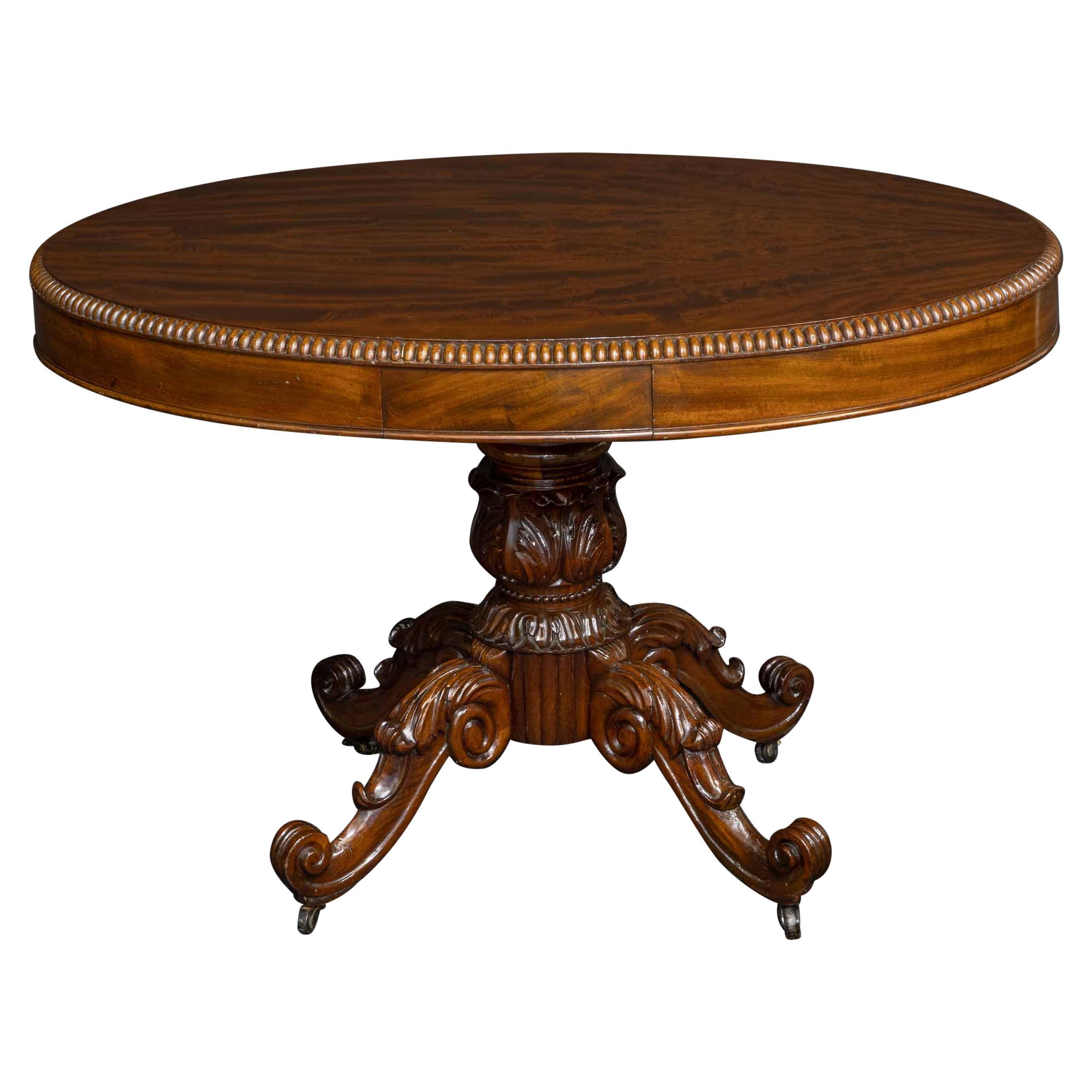 Mid-19th Century French Mahogany Table