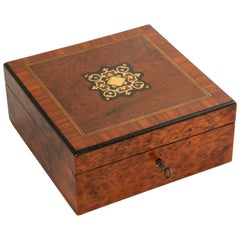 Mid-19th Century French Napoleon III Period Rosewood, Thuya, Marquetry Box