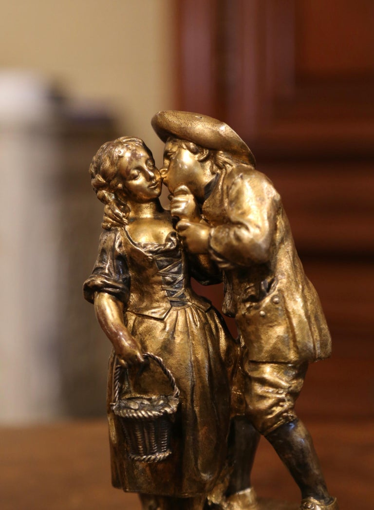 Decorate a shelf or a woman's writing table with this sweet antique figure composition