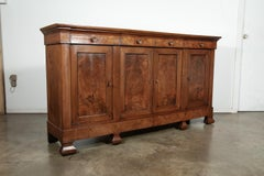 Mid-19th Century French Period Louis Philippe Burled Chestnut Enfilade Buffet