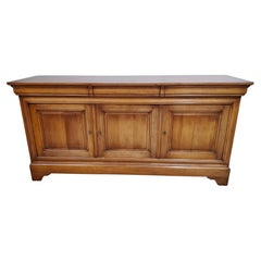 Mid 19th Century French Provincial Louis Philippe Period Cherrywood Buffet