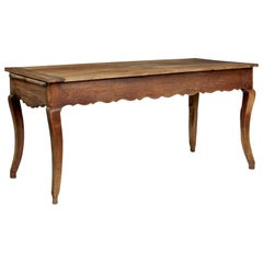 Mid-19th Century French Rustic Chestnut Farmhouse Table