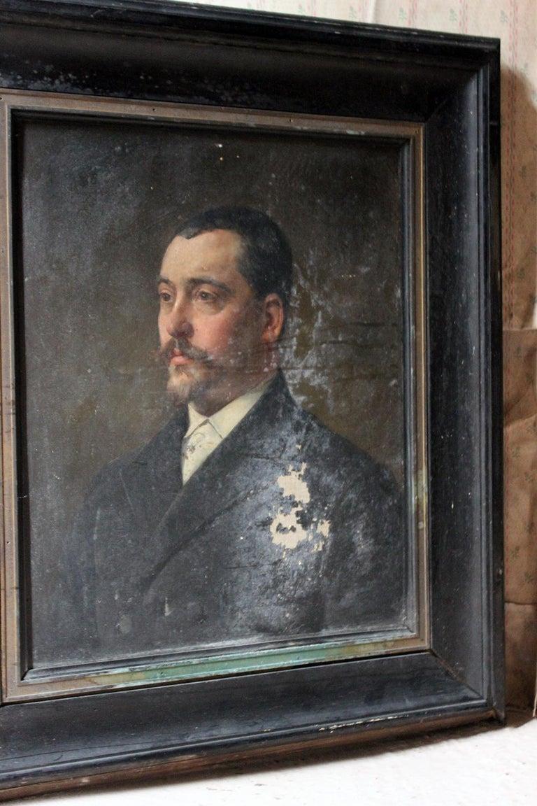 8e61e181a4c8 Mid-19th Century French School Oil on Canvas Portrait of a Gentleman, circa  1860