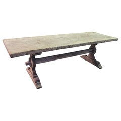 Mid-19th Century French Trestle Table, Farm Table